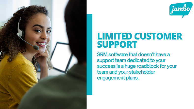 stakeholder relationship management software must be user friendly and well designed