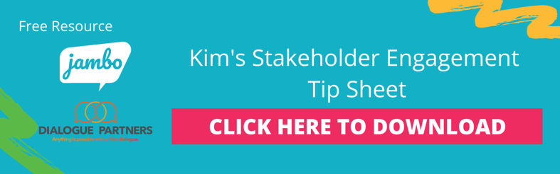 Kim Hyshka's Stakeholder Engagement Tip Sheet for Effective Stakeholder Engagement