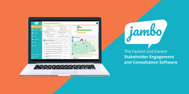 Jambo, stakeholder relationship management (SRM) software is the fastest and easiest stakeholder engagement and consultation software