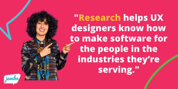 ux is research based and research is how designers learn to make stakeholder relationship management software that's easy and fast for users