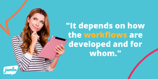 workflows in stakeholder relationship management (SRM) software are important for the user experience