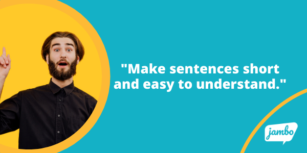 stakeholder email tips: Make sentences short and easy to understand. Stick to key messages!