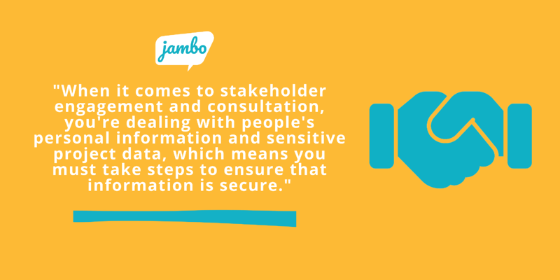 Stakeholder personal information for project risk reduction quotes