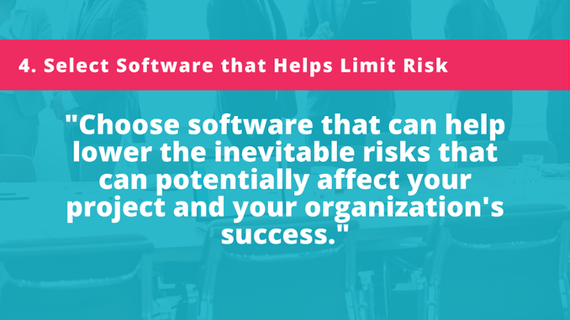 In stakeholder engagement, there are inevitable risks that can potentially affect your project and your organization's success. Choose stakeholder relationship management (SRM) software that lowers project risks