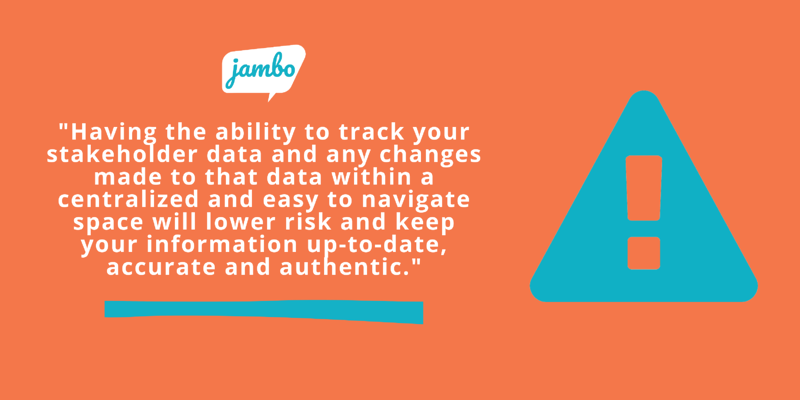 Tracking stakeholder data quote